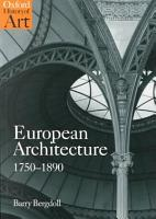 European Architecture  1750 1890 PDF