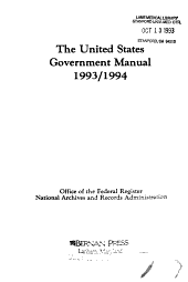 United States Government Manual, 1993-94