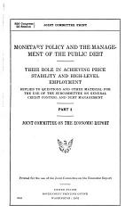 Monetary Policy and the Management of the Public Debt