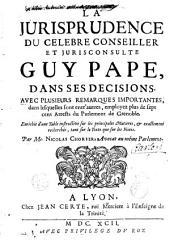 """La Jurisprudence du célèbre conseiller et jurisconsulte Guy Pape dans ses """"Décisions""""..."""