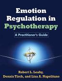 Emotion Regulation in Psychotherapy