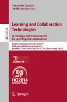 Learning and Collaboration Technologies  Technology Rich Environments for Learning and Collaboration  PDF