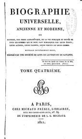 Biographie universelle, ancienne et moderne: Volume4