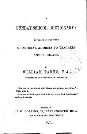 A Sunday school dictionary PDF