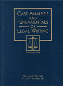 Case Analysis and Fundamentals of Legal Writing PDF