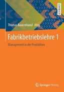 Fabrikbetriebslehre 1 PDF