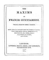 The Maxims of Francis Guicciardini