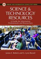 Science and Technology Resources  A Guide for Information Professionals and Researchers PDF