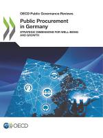 OECD Public Governance Reviews Public Procurement in Germany Strategic Dimensions for Well being and Growth PDF