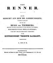 Der Renner: ein Gedicht aus dem XIII. Jahrhunderte, Band 1