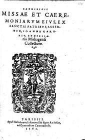 Sacrificii missae et caeremoniarum eius ex S. Patribus assertio
