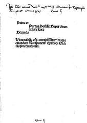 Super Matthei Evangeliare postilla: Opus preclarissimum postillar[um] diui Alberti Magni Ratisponen[sis] dum vixit Ep[iscop]i, summi et incomparabilis Theologi, sup[er] Quattuor Eua[n]gelia .... Prima et secunda partes postille super Evangeliare Luce. 3