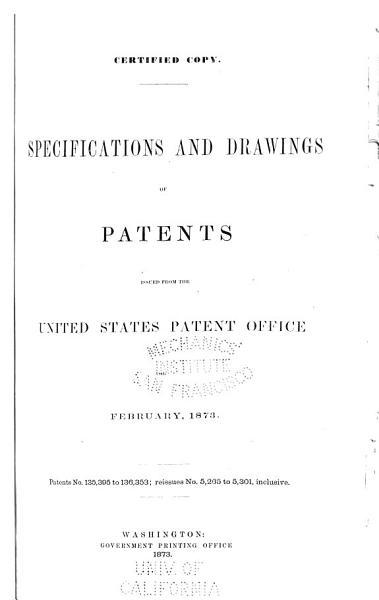 Download Specifications and Drawings of Patents Issued from the U S  Patent Office Book