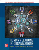 ISE Human Relations in Organizations  Applications and Skill Building PDF
