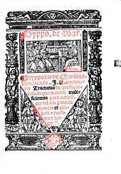 Hyppol. de Marsiliis Tractatus de questionibus in quo materie maleficorum pertractantur: cum tabula p. modum numeri et alfabeti novissime recognitus