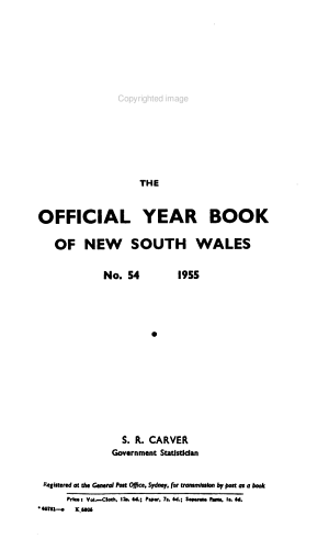 The Official Year Book of New South Wales