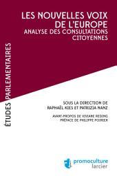 Les nouvelles voix de l'Europe: Analyse des consultations citoyennes