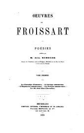 Œuvres de Froissart: Volume1