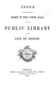 Index to the Catalogue of Books in the Upper Hall PDF