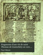Fragments d'une vie de saint Thomas de Cantorbery en vers accouplés