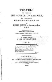 Travels to Discover the Source of the Nile: In the Years 1768, 1769, 1770, 1771, 1772, & 1773, Volume 5