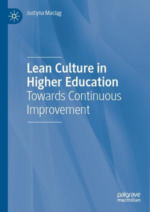 Lean Culture in Higher Education PDF