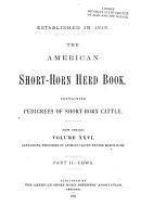The American Short horn Herd Book PDF