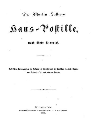 Dr  Martin Luthers S  mmtliche Schriften PDF
