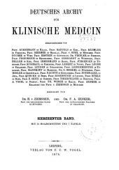 Deutsches Archiv für klinische Medizin: Band 17