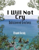 I Will Not Cry PDF