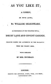 The British Theatre: Or, a Collection of Plays, which are Acted at the Theaters Royal ... : With Biographical and Critical Remarks. As you like it. Merry wives of Windsor. King Henry VIII. Measure for measure. Winter's tale, Volume 3