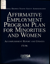 Affirmative Employment Program Plan for Minorities and Women: Accomplishment Report and Updates