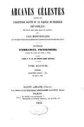Arcanes célestes de l'Ecriture Sainte ou Parole du Seigneur dévoilée: Volume8