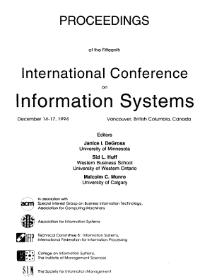 Proceedings of the Fifteenth International Conference on Information Systems, December 14-17, 1994, Vancouver, British Columbia, Canada