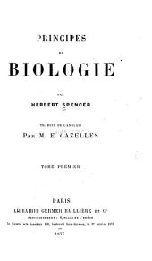 Principes de biologie: Volume1