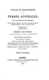 Voyage de découvertes aux terres Australes: fait par ordre du gouvernement, sur les corvettes les Géographe, le Naturaliste, et la goëlette le Casuarina, pendant les années 1800, 1801, 1802, 1803 et 1804. Historique, Volume4