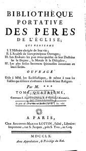 Bibliothèque portative des Pères de l'Eglise: Volume4