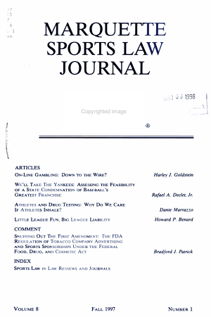 Marquette sports law journal