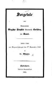 Sørgetale over Admiralinde R. S. Baronesse Holsten, fød Kaas