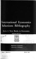 International Economics Selections Bibliography PDF