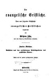 Der evangelische Geistliche: dem nun folgenden Geshlechte evangelischer Geistlichen, Band 2