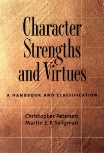 Character Strengths and Virtues Book