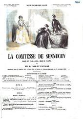 La comtesse de Sennecey drame en trois actes, mêlé de chants par Bayard et D'Ennery