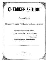 Chemiker Zeitung: Band 18