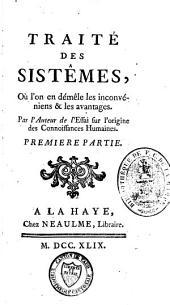 Traité des systèmes: Volume1