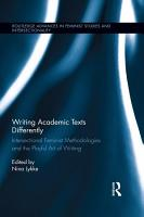 Writing Academic Texts Differently PDF