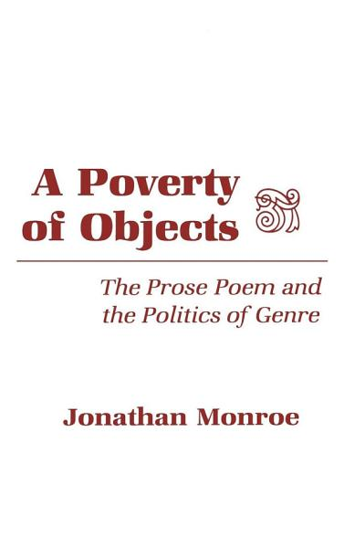 Download A Poverty of Objects Book