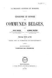 Géographie et histoire des communes belges: Volume5