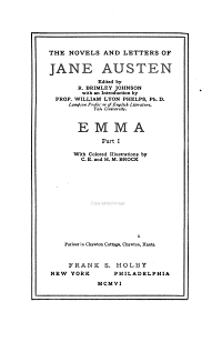 The Novels and Letters of Jane Austen