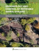Epidemiology and Control of Notifiable Animal Diseases PDF